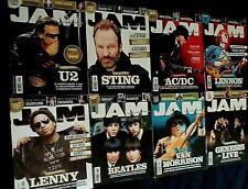 JAM-LOTTO 8 RIVISTE 2009-U2/STING/AC-DC/BEATLES/L.CRAVITZ/J.LENNON/GENESIS/VAN