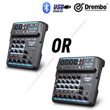 Drembo M-4/6 Protable Mini Mixer Audio DJ Console with Sound Card, USB, 48V