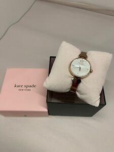 Kate Spade KSW1561 Women's Hollis Rose Gold Tone Bangle 30mm Watch NWT
