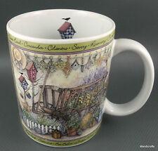 Coffee Mug Lang & Wise Herb Wagon Artist Sherri Buck Baldwin 8oz 1997 Ceramic