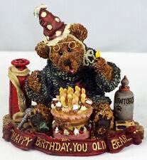 Boyds Bearstone Figurine, G M Bearenthal–Happy Birthday You Old Bear, #228321
