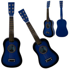New Beginner Kids 6 Strings Acoustic Toy Guitar 23 Inch Color Hot Blue