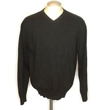 Sebastian Cooper Mens Sweater XL Gray Cashmere Blend Long Sleeve Pullover V Neck
