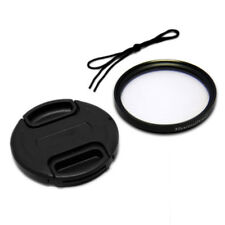 55mm Front Lens Cap Cover + UV Filter Combo for Canon Nikon Olympus Sony Camera