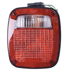 Omix-ADA Black Left Replacement Tail Light Assembly for 91-97 Jeep Wrangler YJ