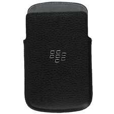 Genuine Blackberry Neri in Pelle Cover Custodia per Q10 HDW-50704-201