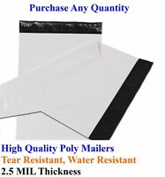 "25-5000 4"" x 6"" Poly Mailers Envelopes Plastic Shipping Bags Mailing 4x6 Inch"