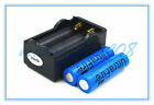 2 x Ultrafire Blue 18650 3.7V 4000mAh Rechargeable li-ion Battery+Travel Charger