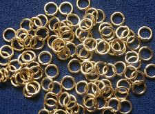 Jump rings 4mm open yellow gold plated 20 gauge round wire medium weights fpj002