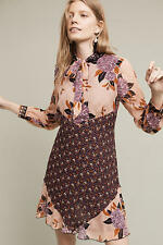 NWT Anthropologie Anna Sui Westing Silk Swing Dress Size 12 $546