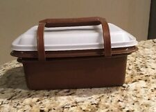Vintage Tupperware Brown Pack & Carry Lunch Box or Ice Cream Keeper 1254