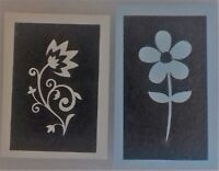 10 - 400 Daisy flower stencils (mixed) for etching glass  - 4 designs daisies