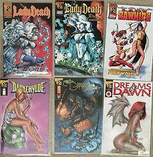 WIZARD 1/2 Witchblade 500 Darkness Dawn Vampirella Lady Rawhide Death Shi Buffy+