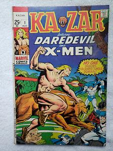 Ka-Zar #1 (Aug 1970, Marvel) [VG 4.0] concealed profanity on cover
