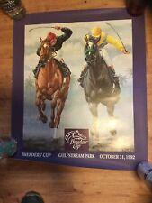 EASY GOER & SUNDAY SILENCE - 1992 BREEDERS CUP SOUVENIR HORSE RACING Poster