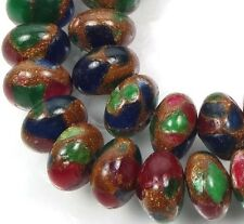 10x6mm Ruby Sapphire Emerald in Quartz with Pyrite Rondelle Beads (29)