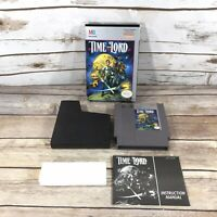 Nintendo NES Time Lord Game Complete 1990 Box Instructions Case TESTED Authentic