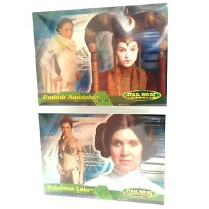 Star Wars Evolutions TOPPS Foil Collector Card Padme 7B and Princess Leia 8B