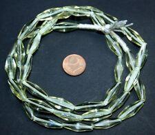 Strang 70 cm transparent alt gelb scheinende Agate Glasperlen aus Böhmen