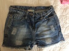 Gorgeous Girls Distressed Jean Shorts From John Lewis. Age 6 Yrs