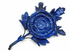 Blue Enamel Chinese Flower - Incense Tray, Spoon Rest