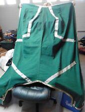 Triple Crown Blanket Horse Dress sheet cooler equestrian scrim Green & gold