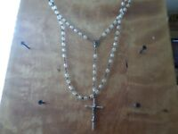 VINTAGE CLEAR BEADS ROSARY