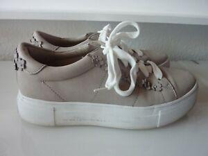 Kennel & Schmenger Sneaker Gr. 5,5 / 38 grau weiß Blumen Big Leder