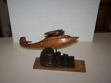 ancien avion en bois art deco hydravion maquette d'agence 1930