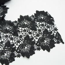 2yards embroidery pretty black Venise Lace trim for DIY crafe sewing  wide 17cm