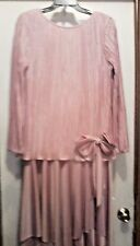 vintage 80's Light Pink dress by AFTER DARK - size 11-12 - USA made