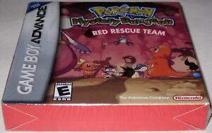 Pokemon Mystery Dungeon Red Rescue Team (Game Boy Advance, 2006) h-seam! New!