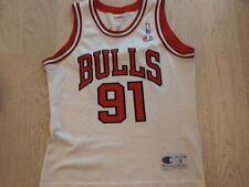 NBA Chicago Bulls Champion retro shirt S Rodman 91 official jersey top vest