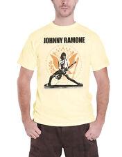 Ramones T Shirt Johnny Ramone Rockin Seal band logo new Official Mens Gold XL