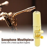 Jazz Alto Sax Saxophone Mouthpiece Metal with Mouthpiece Cap & Pads Professional
