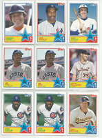 2013 Topps Archives '83 All-Stars Insert Lot 9 Cards Evans Molitor Rice Carter +