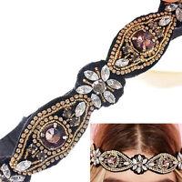 Women's Rhinestone Beads Headband Elastic Hairband Wedding Hair Accessary Worthy