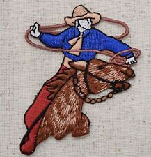 Iron On Applique Embroidered Patch Western Cowboy Western Rodeo Roper Horse