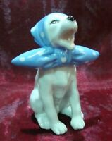 Figurina Cane Sciarpa Stile Art Deco Stile Art Nouveau Porcellana Smalti