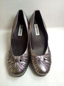 Steve Madden Bugsy Platform Shoes  Pewter Women's size 8B Leather upper