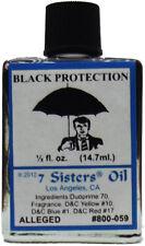 Black Protection Oil, 7 Sisters, 1/2oz, Lunari13, Wicca, Santeria, Brujeria