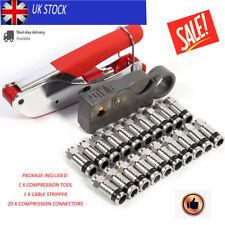 Compression Tool Kit Crimping Crimper For RG58 RG59 F-Type Crimper Connector HOT