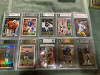 1972-2000's Beckett Graded Football Cards-lot Of 15-mostly Rookies  Staubach