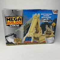 Mega Builder Crane - Wooden Machine Construction Kit Set - New in Box