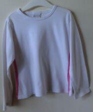 Weißes Shirt Langarm mit pinkfarbigen Seitenstreifen Gr. 110 von NEXT