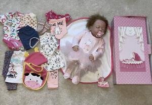 🌸 BABY GIRL REBORN DOLL 22'' SLEEPING BABY, LOTS OF CLOTHING