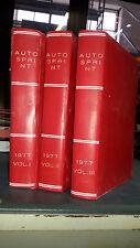 Autosprint 1977 Volume I II III rilegati copertina rigida Annata completa n.1/52