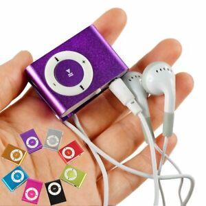 Mini Portable Clip-on MP3 Player With Micro TF/SD Slot Metal USB 2.0 Multicolor