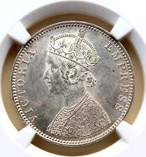 British India 1901-B One Rupee Type C/1 NGC MS-61 BUNC