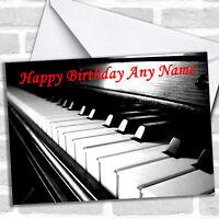 Piano Personalized Birthday Card